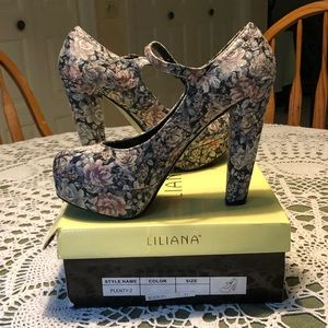 Liliana floral heels
